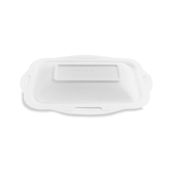 Vegware Lid Bagasse for Sugarcane Gourmet Base Tray Size 190 x 130mm - Pack 600