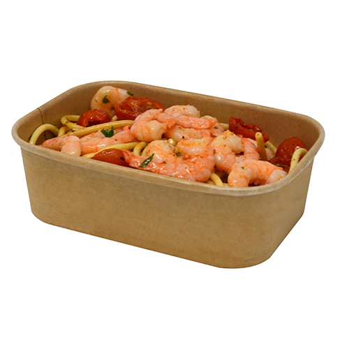 650ml Kraft Bowl Stagione Microwavable Freezable Recyclable PP Lined - Pack 300