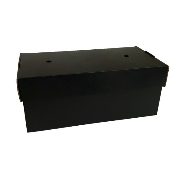 Compostable Premium Black Large Burger Box 240x122mm Biodegradable - Pack 100