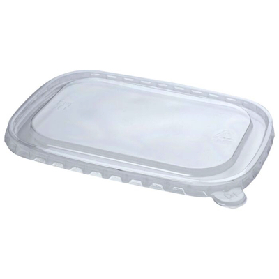 Clear rPET Stagione Lid for Kraft Bowl Microwavable Freezable - Pack 300
